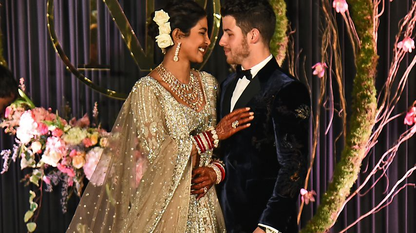 Priyanka Chopra Jonas und Nick Jonas bei ihrem Hochzeitsempfang