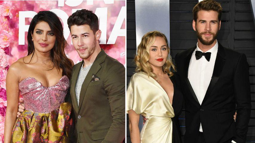 Priyanka will Doppel-Date mit Nick und seiner Ex Miley Cyrus