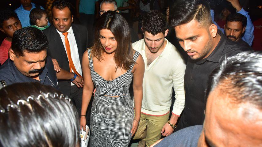 Priyanka Chopra und Nick Jonas in Mumbai