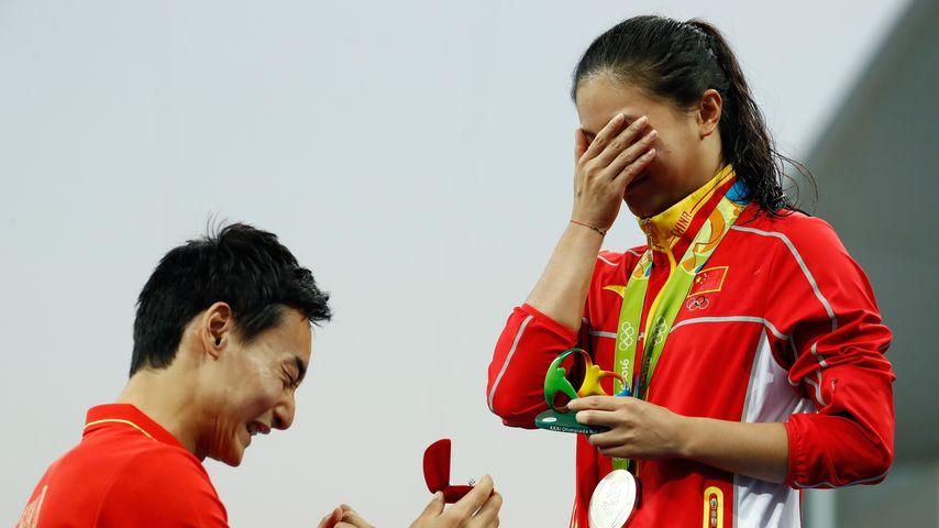 Qin Kai macht He Zi einen Heiratsantrag bei Olympia 2016 in Rio