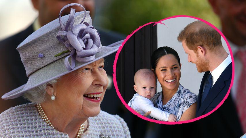 "Die Queen im Videocall: ""Archie hat Prinz Harrys rote Haare"""