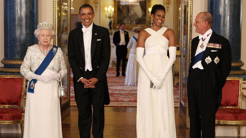 Queen Elizabeth II., Barack Obama, Michelle Obama und Prinz Philip