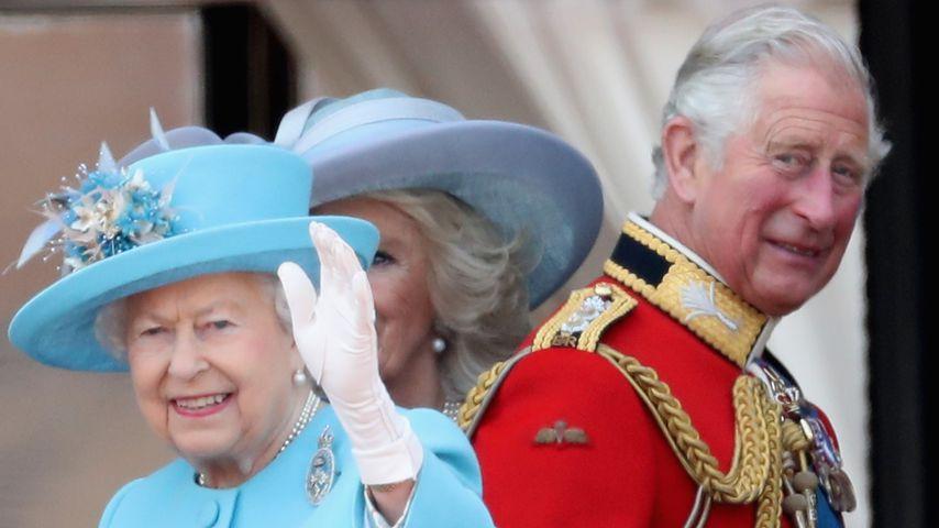 Queen Elizabeth II., Herzogin Camilla und Prinz Charles