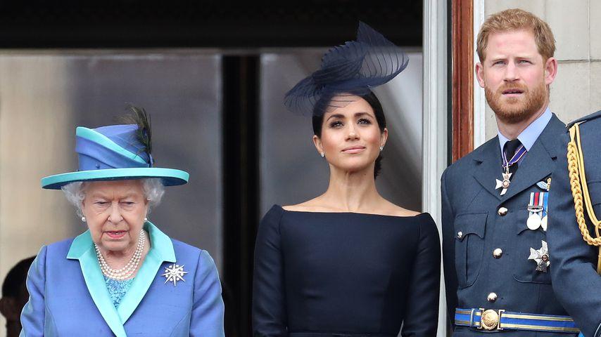 Queen Elizabeth II., Herzogin Meghan und Prinz Harry 2018