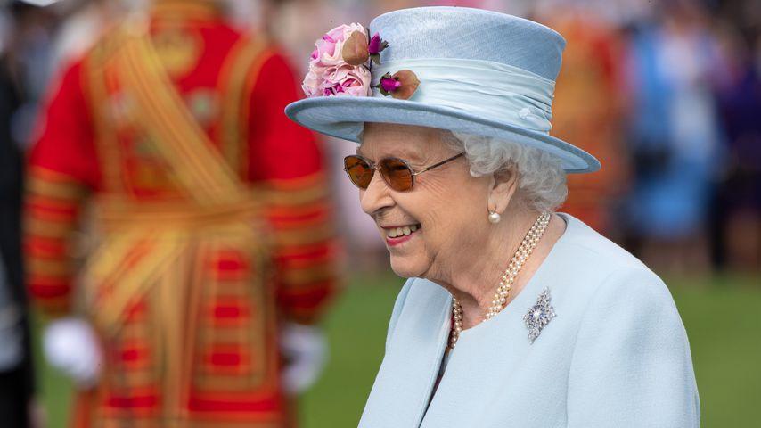 Queen Elizabeth II. bei der Royal Garden Party am Buckingham Palast im Mai 2019