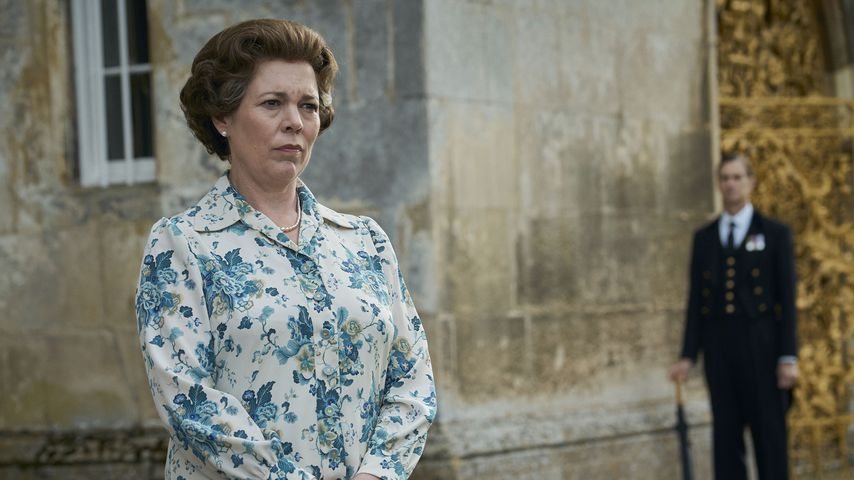 "Queen Elizabeth II. (Olivia Colman) in der Netflix-Serie ""The Crown"""