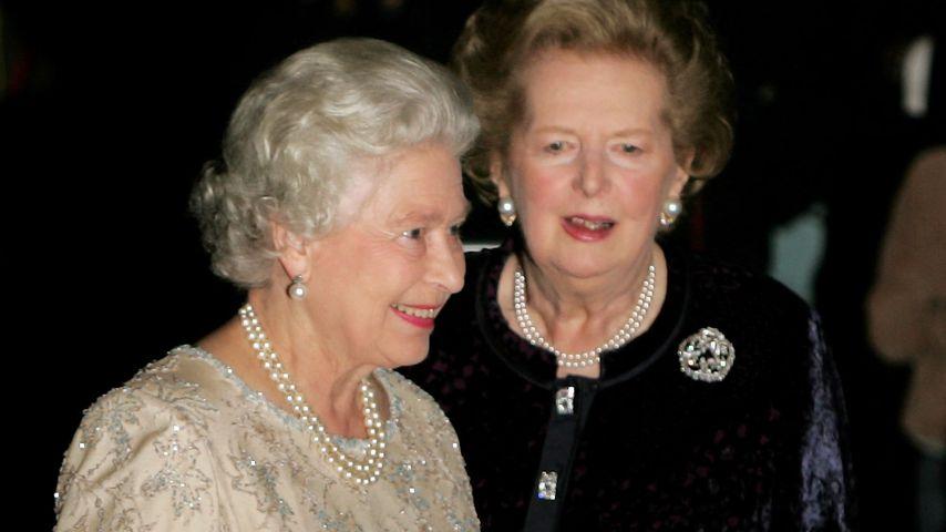 Queen Elizabeth II. und Margaret Thatcher im Oktober 2005 in London