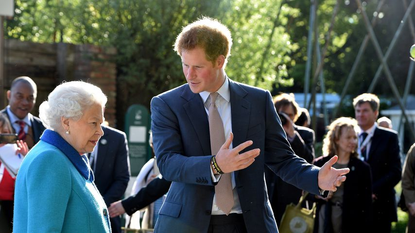 Queen Elizabeth II. und Prinz Harry bei der Chelsea Flower Show 2015