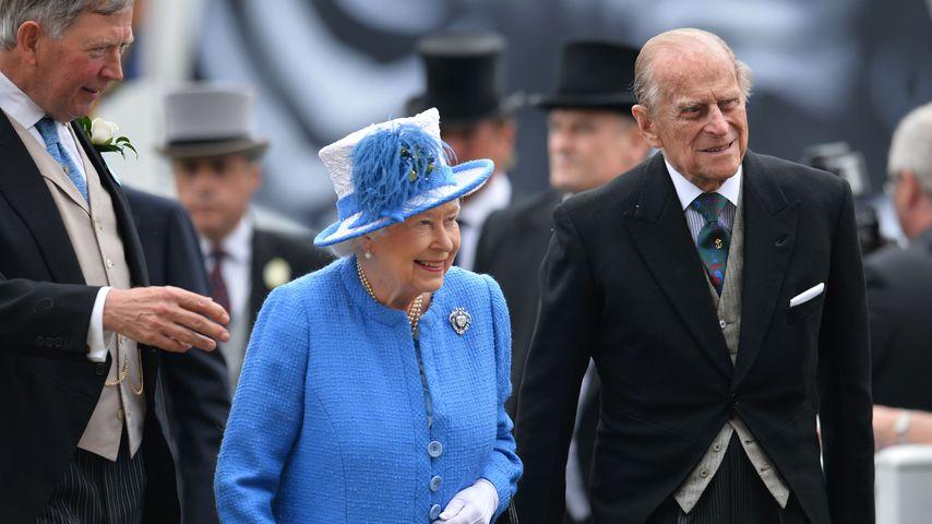 Queen Elizabeth II. und Prinz Philip beim Epsom Derby Festival in Surrey, 2016