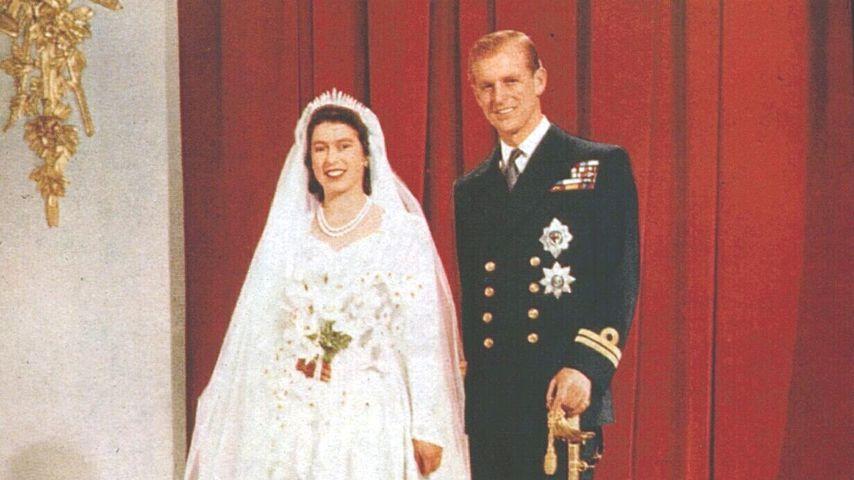 Queen Elizabeth II. und Prinz Philip bei ihrer Hochzeit, 1947