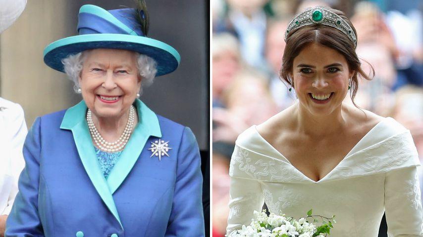 So sehr half die Queen bei Eugenies Hochzeitsplanung!