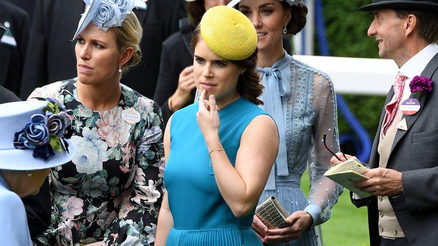 Queen Elizabeth II., Zara Tindall, Prinzessin Eugenie und Herzogin Kate
