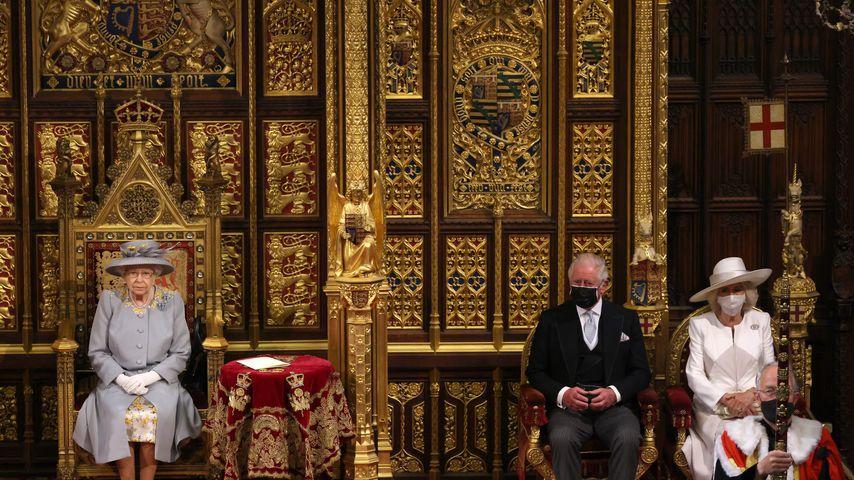 Queen Elizabeth, Prinz Charles und Herzogin Camilla
