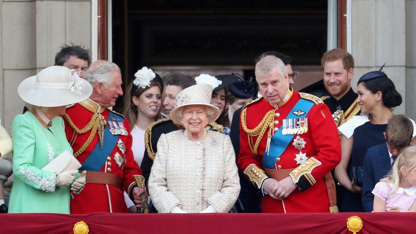Die britische Königsfamilie während der Trooping the Colour Parade