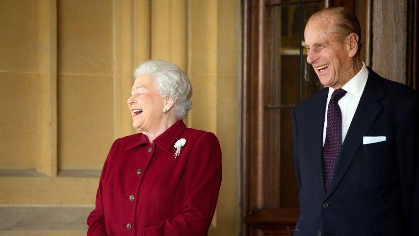 Queen Elizabeth und Prinz Philip, 2014