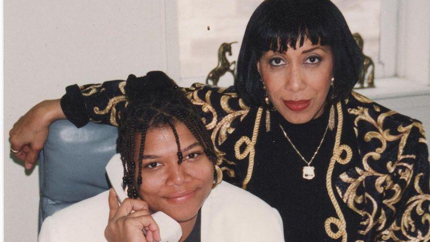 Queen Latifah in ihrer Jugend mit ihrer Mutter Rota Owens