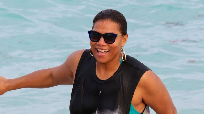 Alternativ-Beach-Babe: Queen Latifah verhüllt sich