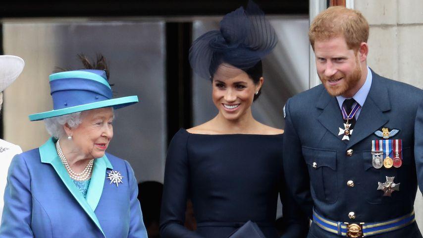 Queen Elizabeth II, Herzogin Meghan und Prinz Harry