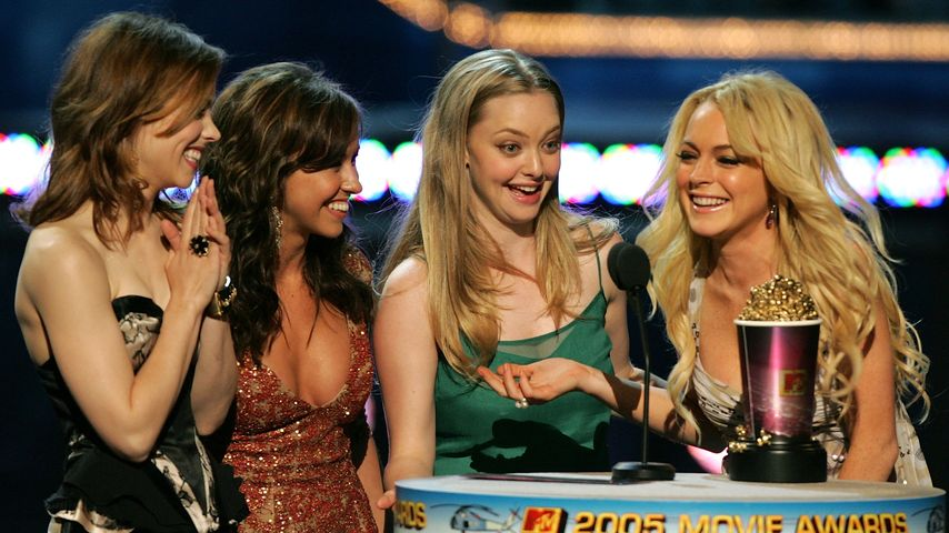 Rachel McAdams, Lacey Chabert, Amanda Seyfried, and Lindsay Lohan bei den MTV Movie Awards 2005