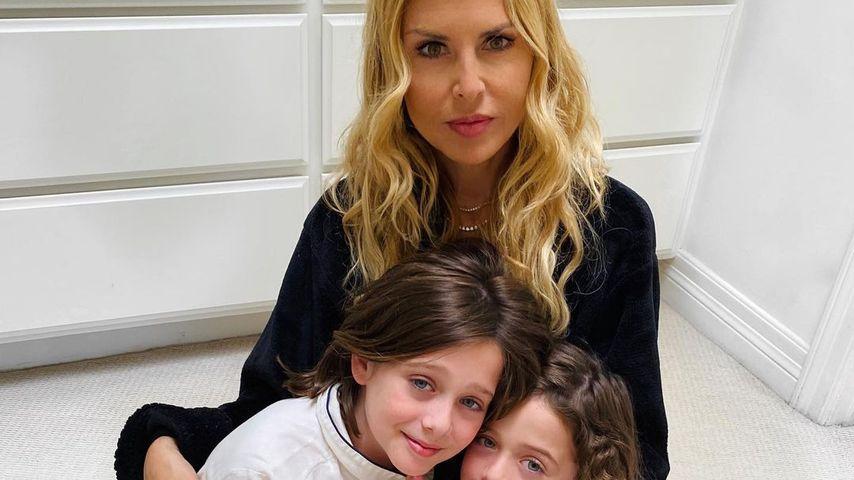 Rachel Zoe mit ihren Söhnen Skyler und Kaius, 2020