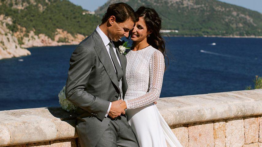 Rafael Nadal und María Francisca Perelló an ihrem Hochzeitstag im Oktober 2019