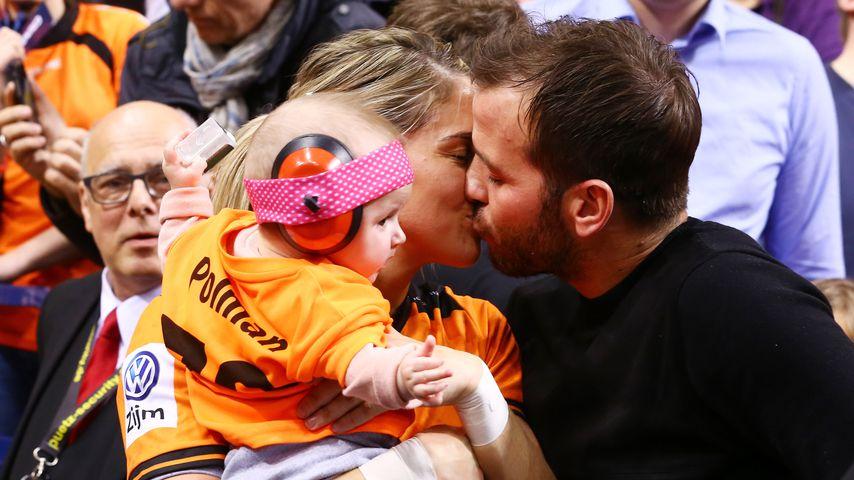 Rafael van der Vaart mit Estavana Polman und Töchterchen Jesslynn