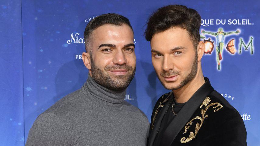 """Rafi Rachek und Sam Dylan bei der Premiere von """"Cirque du Soleil"""""""