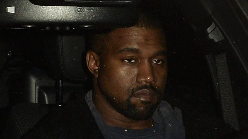 Rapper Kanye West im Auto