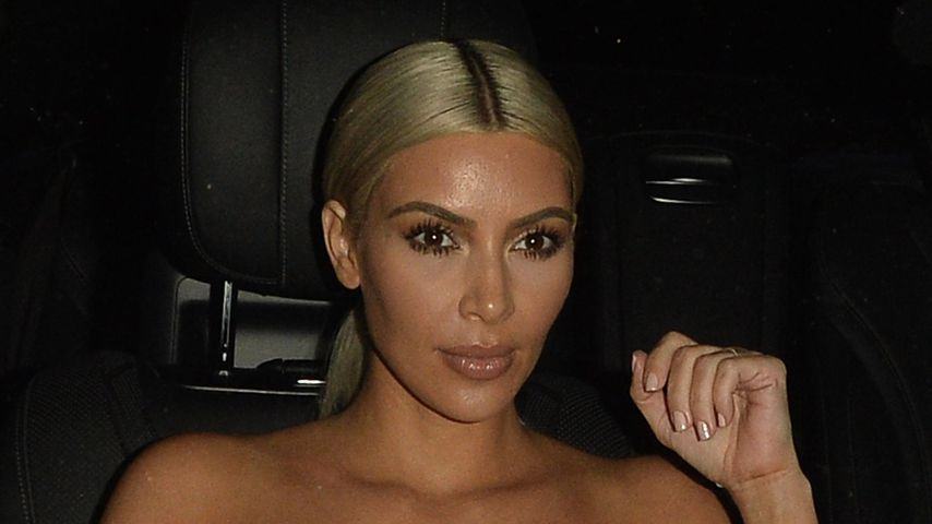 Reality-TV-Star Kim Kardashian im Auto