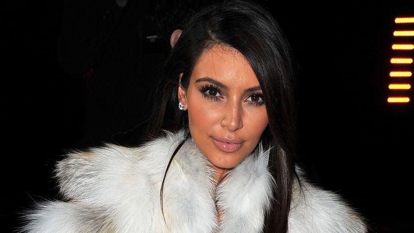 Reality-TV-Star Kim Kardashian mit Pelz