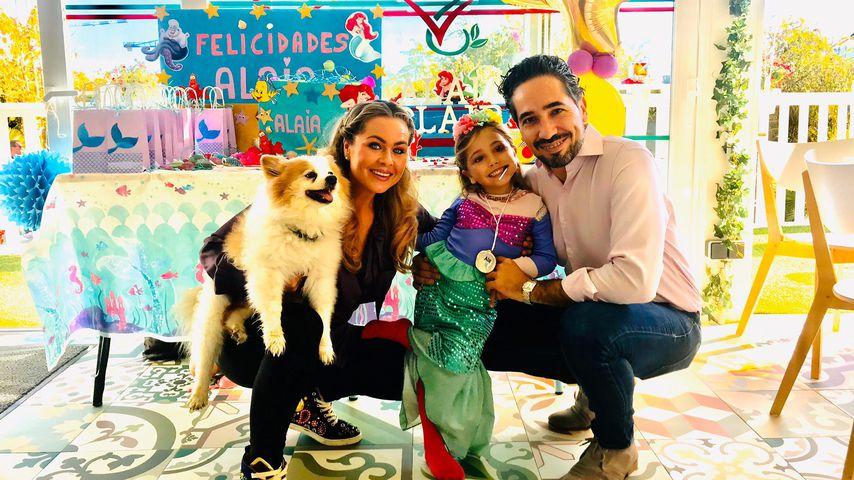 Rebecca Kratz mit Ehemann Julio und Tochter Alaia