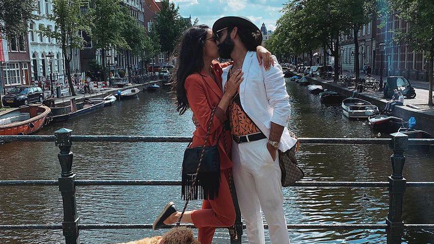 Rebecca Mir und Massimo Sinató in Amsterdam