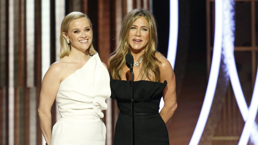 Reese Witherspoon und Jennifer Aniston bei den Golden Globes 2020
