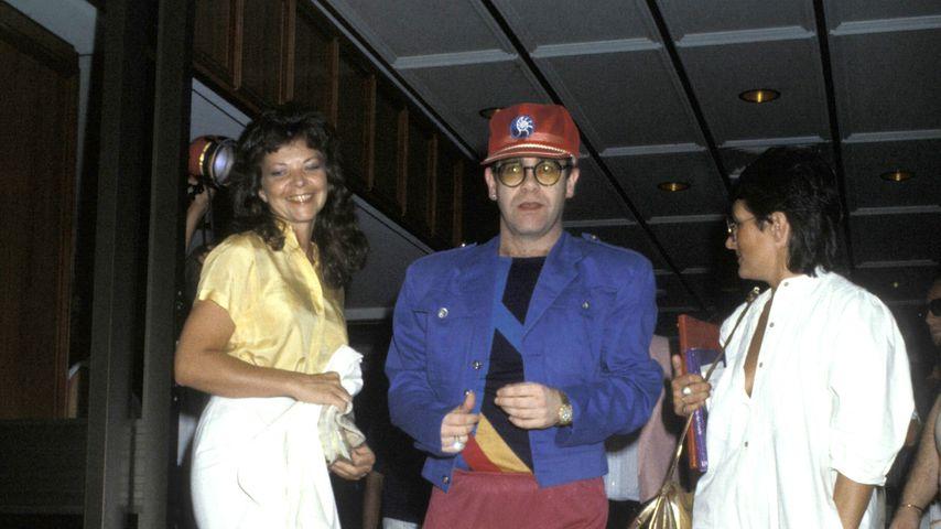 Renate Blauel und Elton John in Sydney, 1984