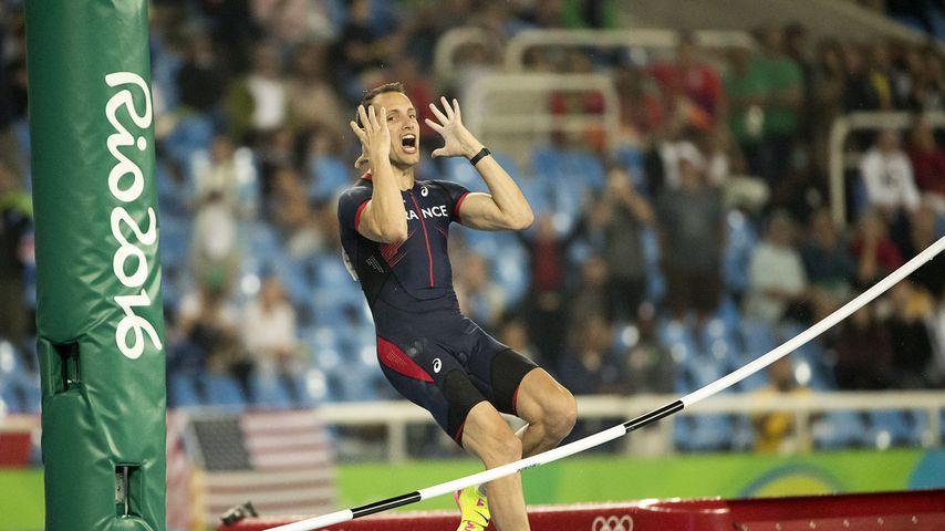 Renaud Lavillenie beim Stabhochsprungfinale von Olympia 2016