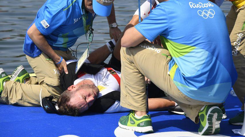 Olympia-Schock: Deutscher Ruderer kollabiert nach Rennen
