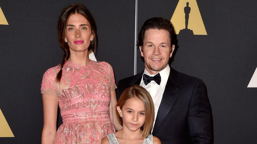 Rhea Durham, Mark Wahlberg und ihre Tochter Ella Rae im November 2014