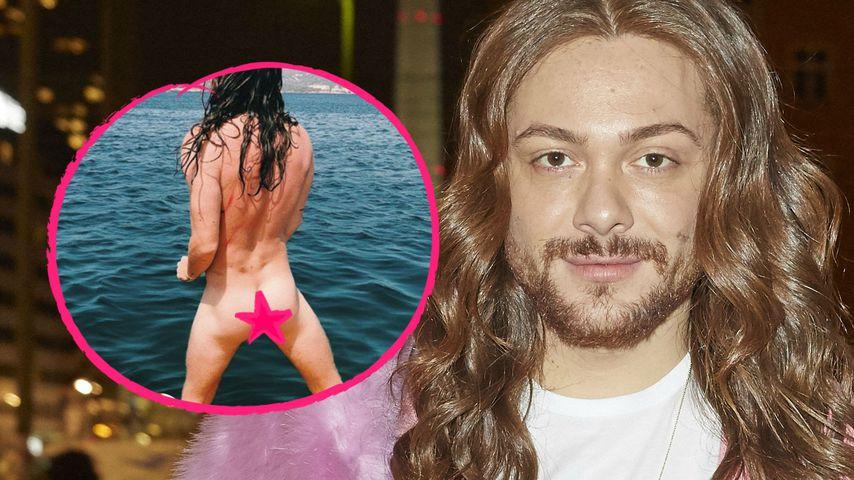 Nackt auf Ibiza: Riccardo Simonetti präsentiert Knack-Po!