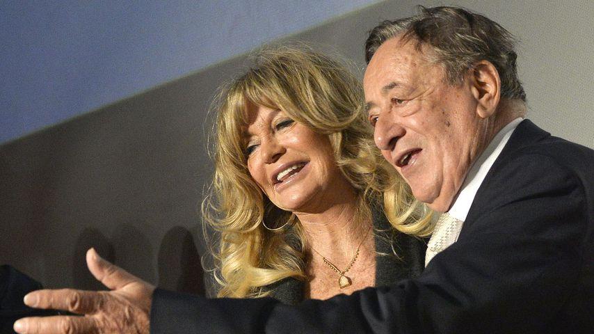 """Goldie Hawn und Richard Lugner bei der Pressekonferenz zum """"Wiener Opernball"""""""