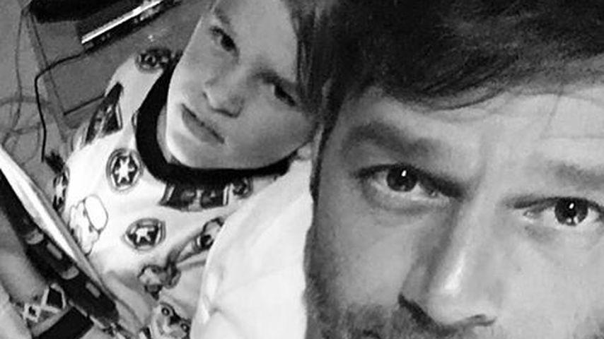 Sänger Ricky Martin mit seinem Sohn