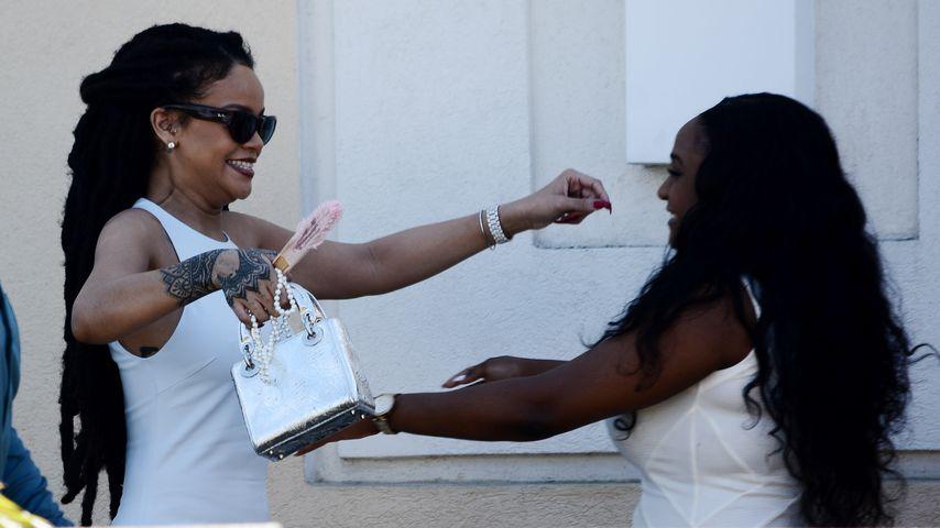 Rihanna bei der Taufe ihres kleinen Cousins auf Barbados
