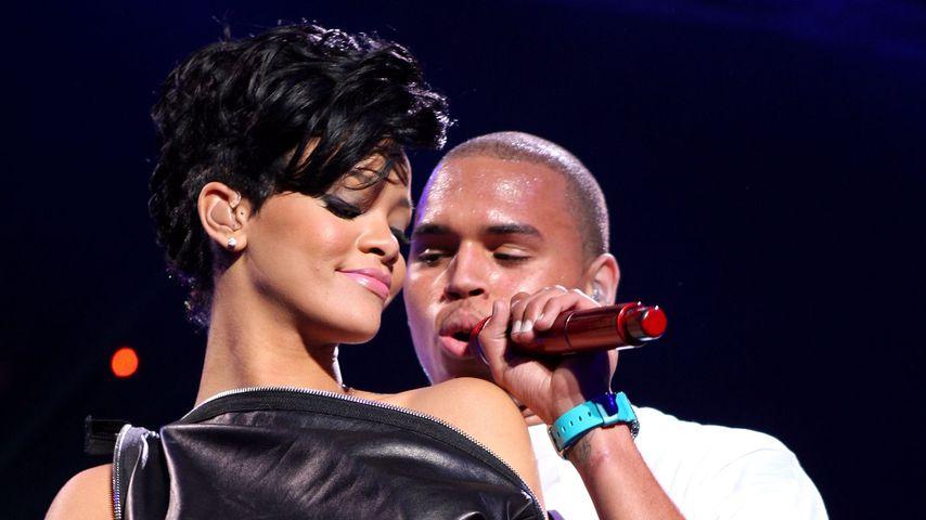 Rihanna und Chris Brown im Dezember 2008
