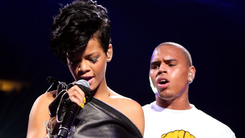 Rihanna und Chris Brown im Madison Square Garden in New York 2008