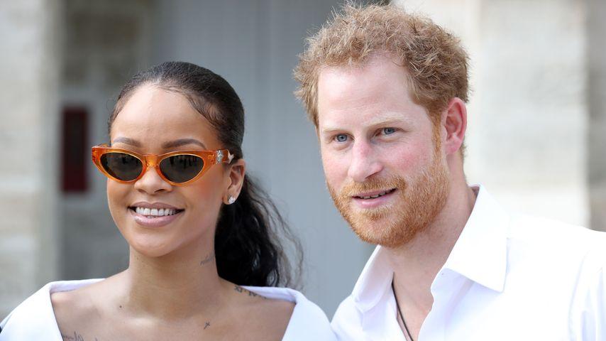 Rihanna und Prinz Harry bei einem HIV Test im Rahmen der Man Aware Veranstaltung in Bridgetown