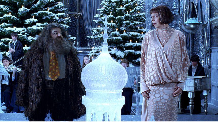 """Robbie Coltrane und Frances de la Tour in """"Harry Potter und der Feuerkelch"""""""