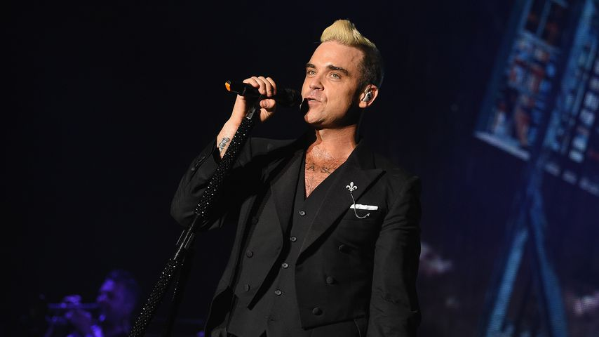 Robbie Williams bei einer Performance in Monaco, 2015