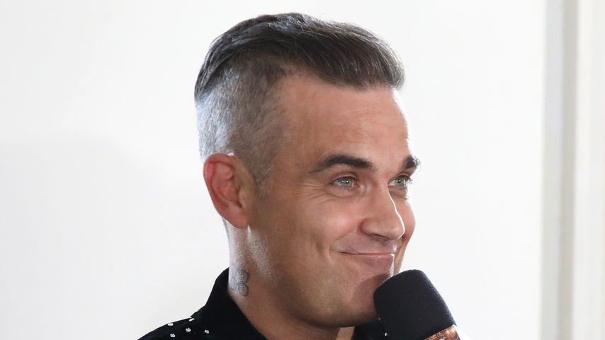 """Robbie Williams beim """"The X Factor""""-Launch im Juli 2018"""
