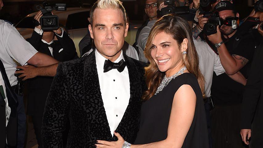 Robbie Williams und Ayda Field 2015 in Cannes