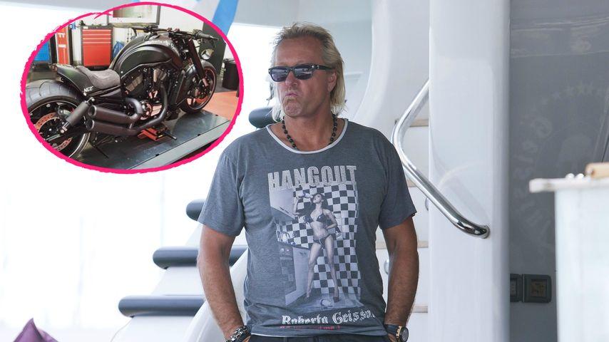 Heißer Ofen: Robert Geiss geht unter die Motorrad-Fahrer