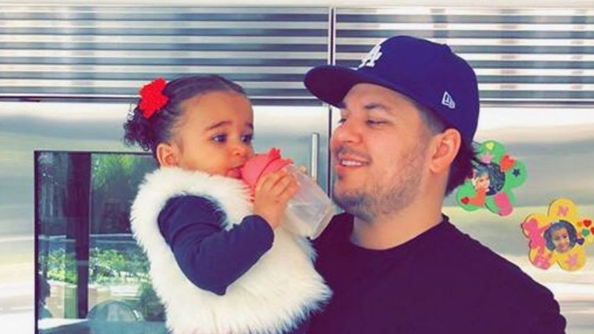 Robert Kardashian mit seiner Tochter Dream